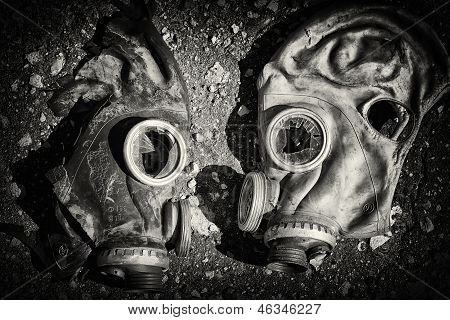 Gas masks.