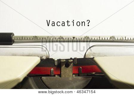 Vacations Or Holidays