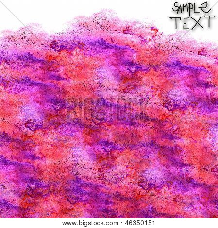 background art hand purple red watercolour brush texture isolate
