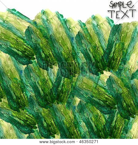 background hand art watercolour green brush texture isolated
