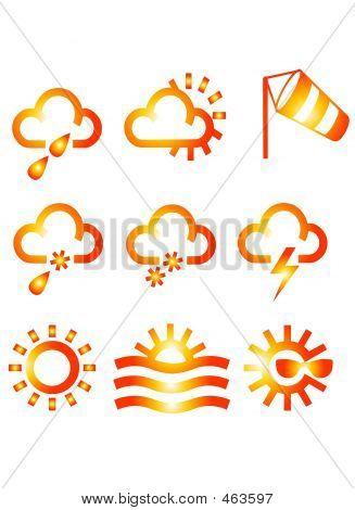 Meteorologic Symbols Icons