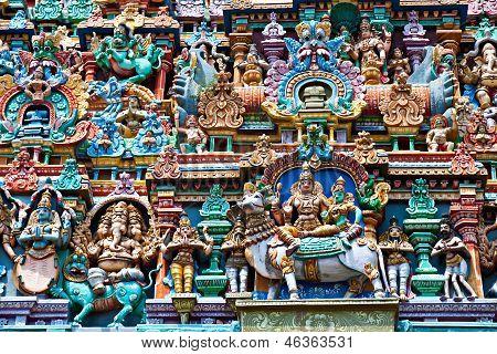 relief of menakshi temple madurai tamil nadu india poster