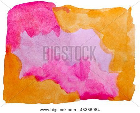 art brown, purple watercolor isolated for your design