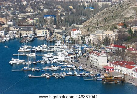 Nice view in Balaklava bay in Sevastopol.