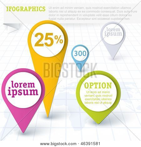 location icons. Vector design element set. poster