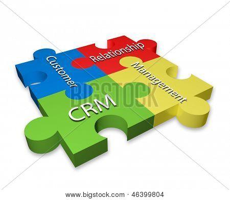Customer Relationship Management (CRM) puzzle diagram