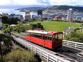 cable car in wellington, new zealand poster