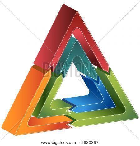 Triangle Diagram Icon