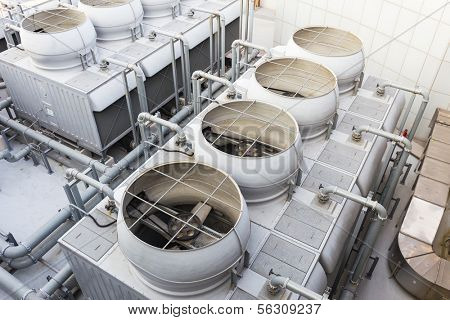 Cooling tower at outdoor