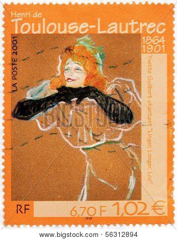 Yvette Guilbert Stamp