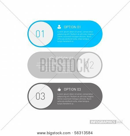 Flat Step by Step Infographics / EPS10 Vector Illustration / poster