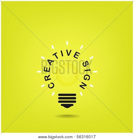 Creative Light Bulb Sign,business Idea
