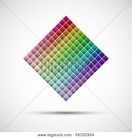 Color palette isolated on white background vector illustration poster
