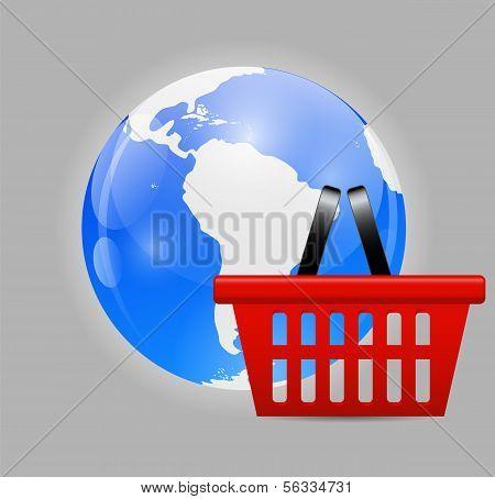 Global Shopping Concept Vector illustration