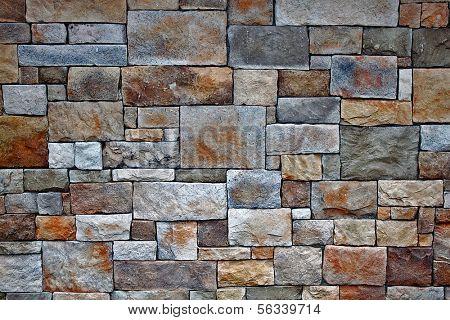Brick and stone wall