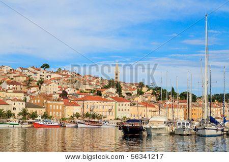 Mali Losinj Waterfront And Harbor, Island Of Losinj, Dalmatia, Croatia