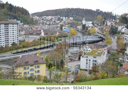View Of A Modern Residential District Of Lucerne