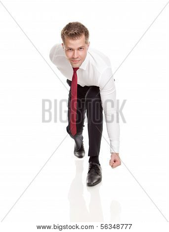 Businessman Ready For Chasing Deals