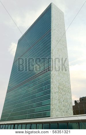 The United Nations building in Manhattan