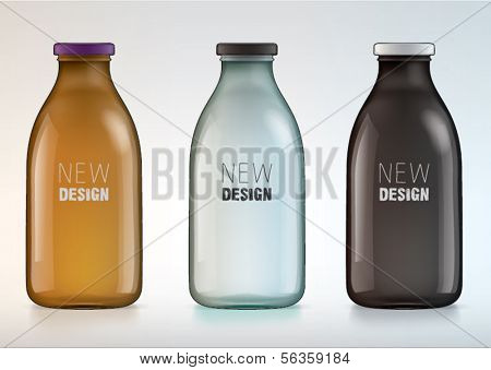 blank glass bottle for new design milk or juice