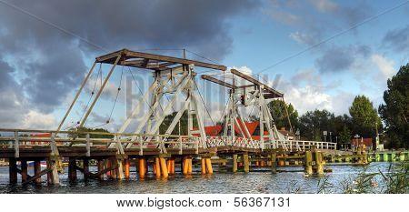 Historische Brücke in der Nähe von Greifswald, Deutschland