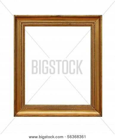 weathered golden frame 02, isolated