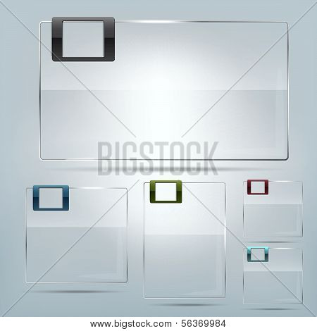Transparent vector glass frames