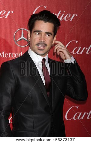 PALM SPRINGS - JAN 4:  Colin Farrell at the Palm Springs Film Festival Gala at Palm Springs Convention Center on January 4, 2014 in Palm Springs, CA