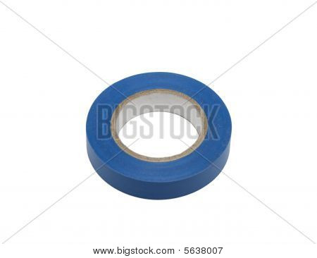 Blue Electric Insulation Tape, Isolated