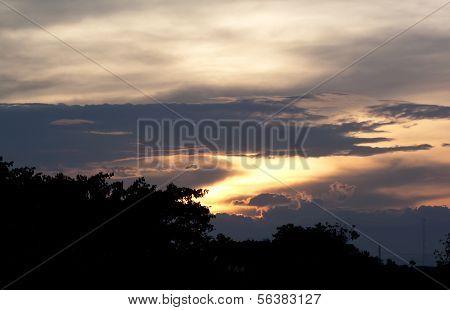 Orange Sky Before Sunset.