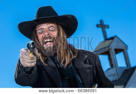 Laughing Cowboy With Gun