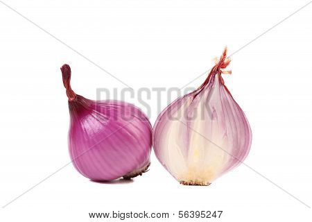 Red onions and slice.