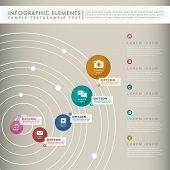 modern vector abstract concentric tracks infographic elements poster