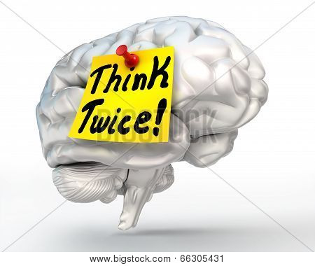 Think Twice Brain Conceptual Image