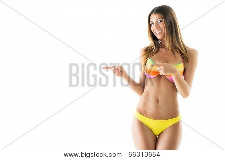 Attractive Girl In A Bikini