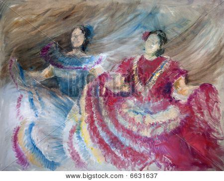 Oilpainting - Spanish Dancer