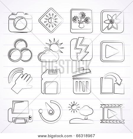 Photography and Camera Function Icons