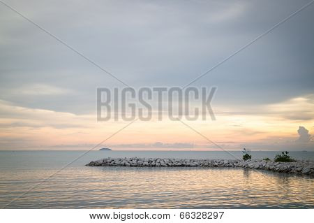Relaxing Sunset Of Sea View