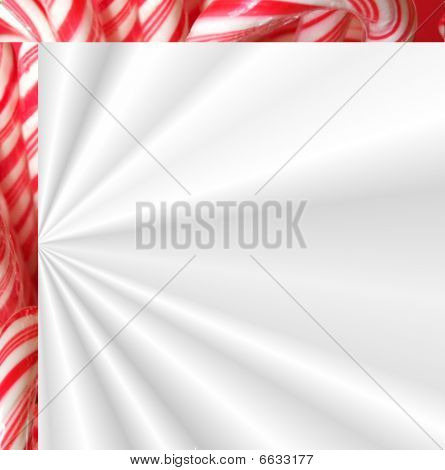 Christmas card candy background