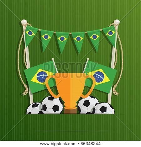 Brazil Football Decoration