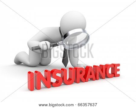 Businessman inspected insurance