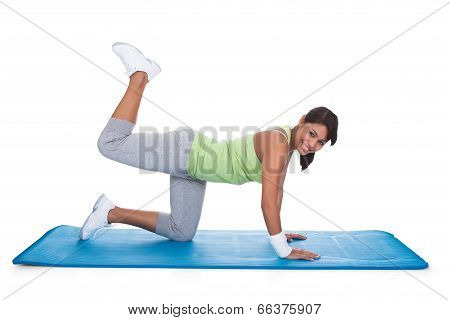 Woman Exercising Buttlocks