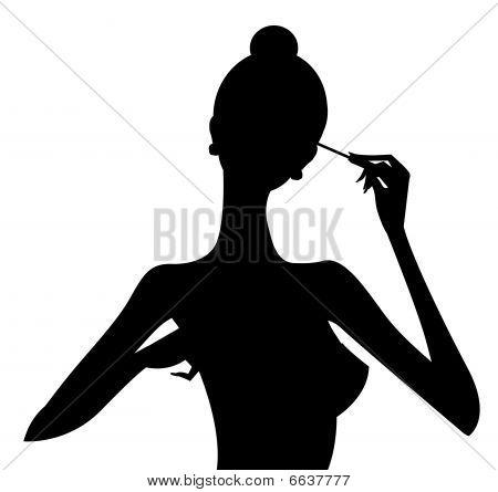 Makeup, Girl Silhouette