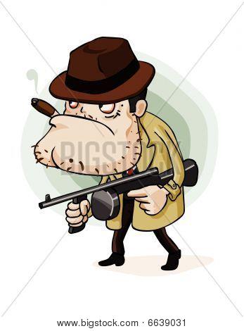 Mafia Gangster With Gun