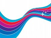 Abstract rainbow wave line background with space of your text, vector illustration poster
