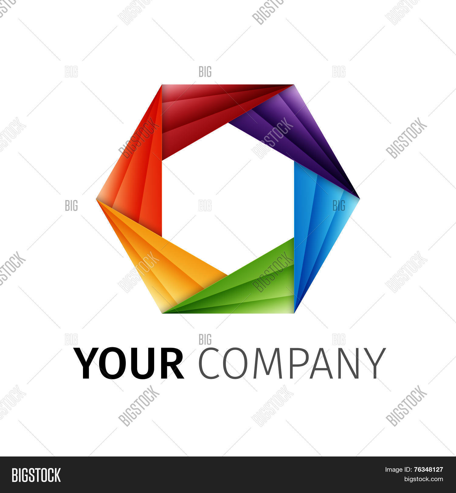 Abstract rainbow aperture vector vector photo bigstock abstract rainbow aperture vector logo pooptronica Images