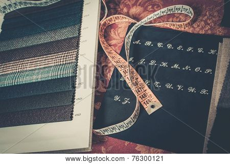 Cloth samples for custom made suits