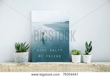 Scandinavian Or American Style Room Interior Stay Salty