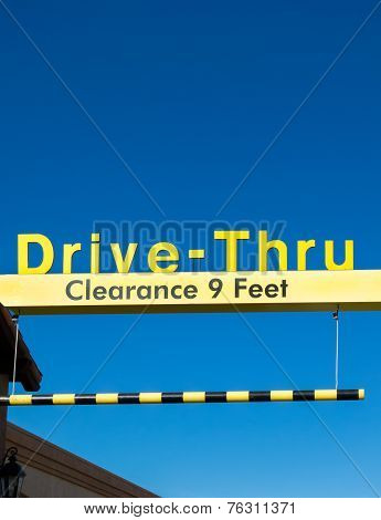 Yellow Overhead Mcdonald's Drive-thru Sign