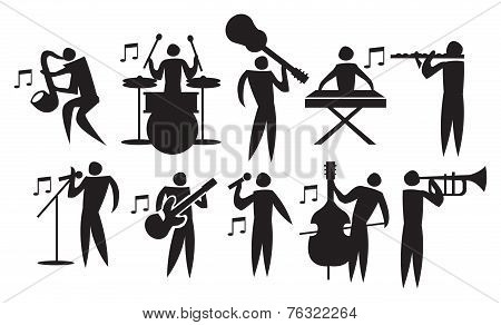 Musician Vector Icon Set